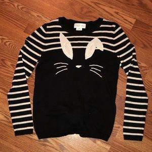 Kate Spade long sleeve bunny sweater size S